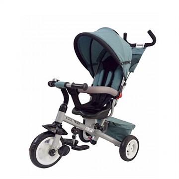 Παιδικό τρίκυκλο ποδήλατο 906-3EVA  με περιστρεφόμενο κάθισμα, ανάκλιση και τέντα ,ΜΠΛΕ