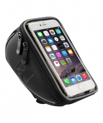 Wozinsky Bicycle Front Frame Handlebar Bag Touch Screen Phone Holder 6,5 inch 0,9L black (WBB4BK)