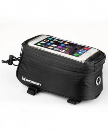 Wozinsky Bike Front Storage Bag Bicycle Frame Phone 6,5 inch max 1,5L black (WBB2BK)
