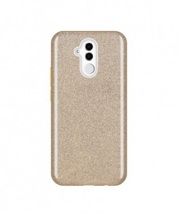 Wozinsky Glitter Shining Cover for Huawei Mate 20 Lite golden