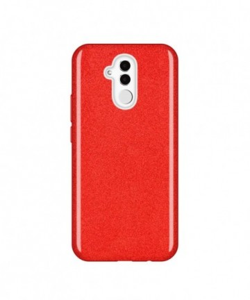 Wozinsky Glitter Shining Cover for Huawei Mate 20 Lite red