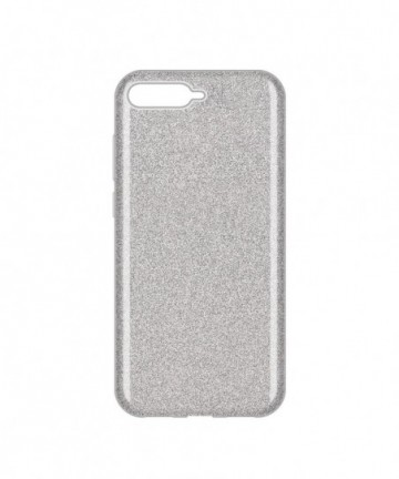 Wozinsky Glitter Shining Cover for Huawei Y6 2018 silver