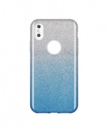 Wozinsky Glitter Shining Cover for Huawei Y7 2019 / Y7 Prime 2019 blue