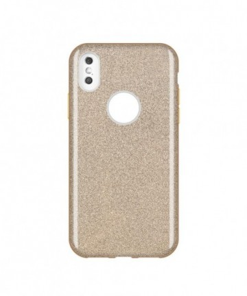 Wozinsky Glitter Shining Cover for Huawei Y7 2019 / Y7 Prime 2019 golden