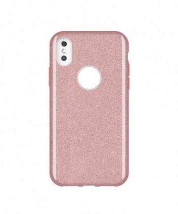 Wozinsky Glitter Shining Cover for Huawei Y7 2019 / Y7 Prime 2019 light pink