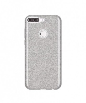 Wozinsky Glitter Shining Cover for Huawei Y7 Prime 2018 silver