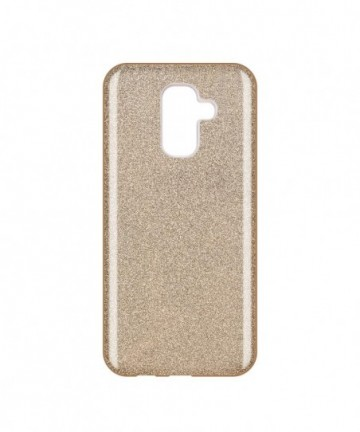 Wozinsky Glitter Shining Cover for Samsung Galaxy A6 Plus 2018 A605 golden