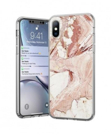 Wozinsky Marble TPU cover for iPhone 11 Pro Max pink