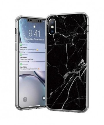 Wozinsky Marble TPU cover for Samsung Galaxy A40 black