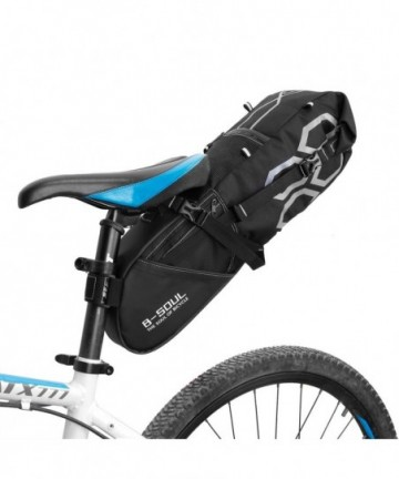 B-Soul large roomy bicycle bag under the saddle 12 L black (YA238)