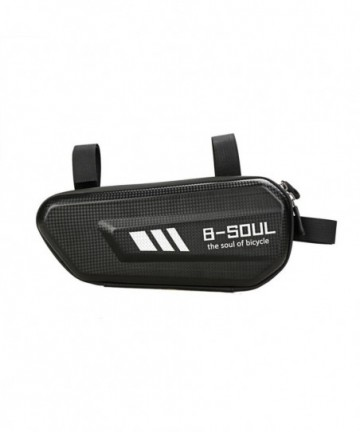 B-Soul bicycle bag for the bicycle frame 1.5 L black (YA301)