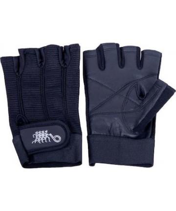 Γάντια άρσης βαρών δερμάτινα (μισόγαντα) 005.06