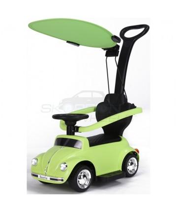 Περπατούρα αυτοκινητάκι VW Beetle με λαβή γονέα και τέντα 5244018 Πράσινη