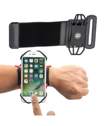 "Universal Running Forearm Armband for 6"" Smartphones black"