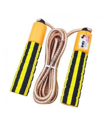 Σχοινάκι crossfit , με μετρητή αλμάτων - Κίτρινο
