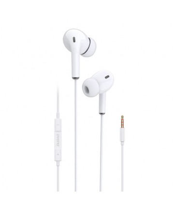 Dudao in-ear earphone 3,5 mm mini jack headset with remote control white (X14 white)