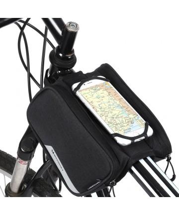 Wozinsky Bike Front Storage Bag Bicycle Frame Phone Case 6,5 inch max 1,5L black (WBB14BK)