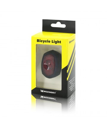 Πίσω φως ποδηλάτου Wozinsky 71392 XC-186 rear bicycle lamp light micro USB charged black (WRBLB1)