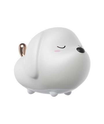 Baseus TPU Φωτάκι Νυκτός Cute Doggie Night Light Led with 3 Scales of Brightness RGB Colour in White (DGAM-A02)