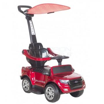 Περπατούρα αυτοκινητάκι Ford με λαβή γονέα και τέντα 5244003 Κόκκινο