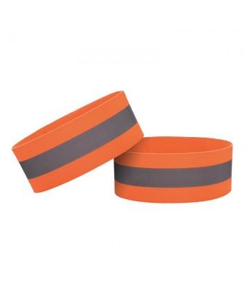Ανακλαστικό Λουράκι Velcro για Ποδηλασία / Τρέξιμο / Περπάτημα 4cm - Orange